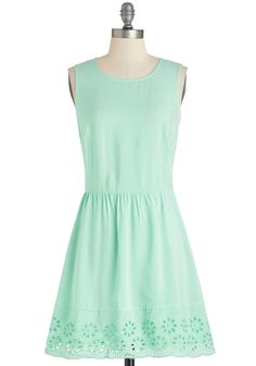 Just Mint to Be Dress, #ModCloth  This paired with a yellow thin belt.  it's what dreams are made of.