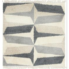 Unique Loom Hygge Shag Balanced Gray 8 ft. x 8 ft. Square Rug 3144094 - The Home Depot Simple Geometric Pattern, Square Rugs, Rugs Online, Animals For Kids, Hygge, Neutral Colors, Colours, Pattern Making, Blue Area Rugs