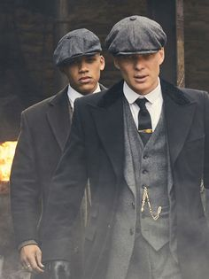 Cillian Murphy as Tommy Shelby and Jordan Bolger as Isiah in P.B.