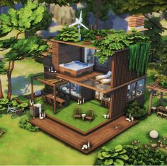 Sims 4 House Plans, Sims 4 House Building, Easy Minecraft Houses, Minecraft House Tutorials, Muebles Sims 4 Cc, Sims 4 House Design, Sims 4 Gameplay, Casas The Sims 4, Minecraft Architecture