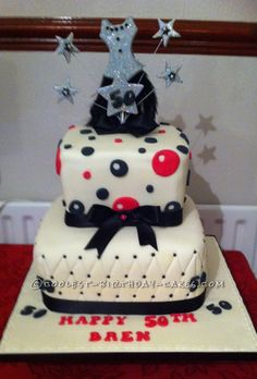 Coolest 50th Birthday Cake... This website is the Pinterest of birthday cake ideas