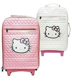 Hello kitty and like OMG! get some yourself some pawtastic adorable cat apparel! Hello Kitty House, Hello Kitty My Melody, Hello Kitty Bag, Sanrio Hello Kitty, Hello Hello, Hello Kitty Suitcase, Pink Suitcase, Cute Luggage, Travel Luggage