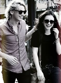 Jamie Campbell Bower and Lily Collins - I ship them so badly, I wish they were still together <3