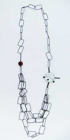 'Hinterland' chain necklace - enamelled and oxidised copper