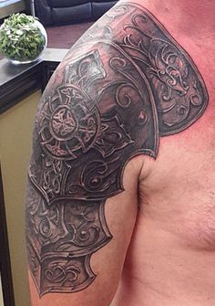 Celtic armor tattoo