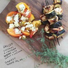 Grilled Zucchini + C