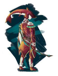 The legend of Zelda -Breath of the Wild- Male Zora by TheArtOfVero on DeviantArt