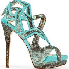 Burak Uyan Snakeprint Criss Cross Platform Sandals Spring 2013 #Shoes #Heels
