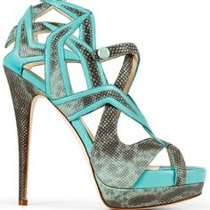 Burak Uyan Snakeprint Criss Cross Platform Sandals Spring 2013 #Shoes #Heels
