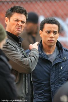 Almost Human. Karl Urban & Michael Ealy<--- pinning for Karl's face!! Lol