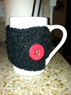 Coffee Mug Cozy- Quick and easy project- plus adorable and eco-friendly!