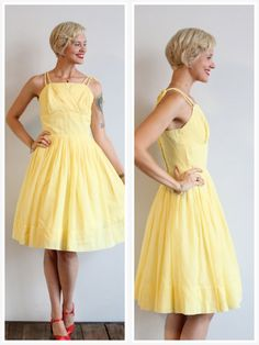 1950s Dress // Golden Drop Dress // vintage 50s by dethrosevintage, $89.00