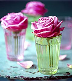 After a garden or tea party inspiration? These roses in pastel coloured cups will have your creative juices flowing.
