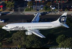 Alaska Airlines Boeing 737-4Q8 N756AS on final approach to Los Angeles-International, November 2015. (Photo: Mark A. Harris)