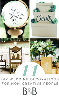 Wedding advice, wedding planning inspiration, DIY wedding decorations, do-it-yourself wedding decor, cheap and easy wedding decoration ideas, read more on borrowedandblue.com!
