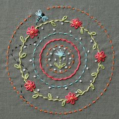 embroidery...I remember my mother and my neighbor teaching me how to do this. French knots are still rather impossible.