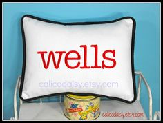 Large Font Name or Word Personalized Pillow Cover  by calicodaisy, $35.00