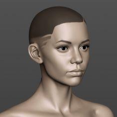 ArtStation - Gabriella head sketch, Eugene Fokin