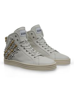 #HOGANREBEL Women's Spring - Summer 2013 #collection: leather High-Top #sneakers R182 with studs.