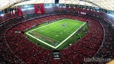 Inside the Georgia Dome, home of the Atlanta Falcons!