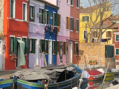 Burano: georgous colours, lunch outside in February!