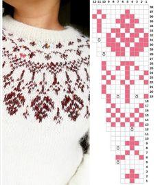 Fair Isle Knitting Patterns, Fair Isle Pattern, Knitting Charts, Sweater Knitting Patterns, Knitting Stitches, Knit Patterns, Fair Isle Chart, Tapestry Crochet, Knit Crochet