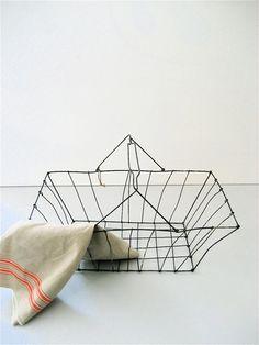 Vintage Wire Market Basket
