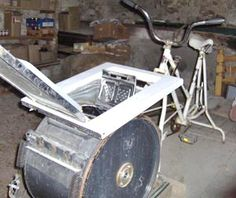 adapting a bicycle to a washing machine - instructions in french