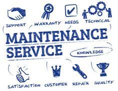 Vektor: maintenance service doodle concept