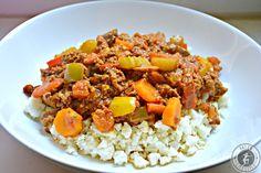 Paleo Chili con Carne mit Blumenkohl-Reis