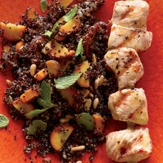 Warm Quinoa Salad with Carrots and Grilled Chicken // More One Pot Recipe Ideas: http://www.foodandwine.com/slideshows/one-pot-meals #foodandwine