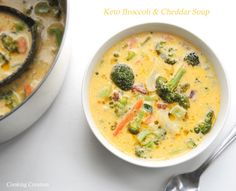 We are officially through our home school year! Now that it's summer break and I have a little extra time . Broccoli Soup Recipes, Turkey Soup, Deviled Eggs Recipe, Broccoli Cheddar, Vegan Thanksgiving, Best Food Ever, Milk Recipes, Ketogenic Recipes, Keto Recipes