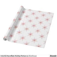 Colorful Snowflake Holiday Pattern Wrapping Paper