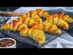 Simplu ca buna ziua! Din cel mai fraged aluat pregatesti cele mai puhave cornuri! Cookrate-Romania - YouTube Croissants, Mai, Shrimp, Sausage, Food, Youtube, Crescents, Sausages, Essen