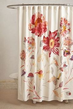 Michelle Morin Morning Blossom Shower Curtain #anthrofave #anthropologie #bathroom