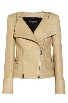 Balmain | Leather biker jacket What to wear to Style Evolutionized www.ratliffevents.com/iconjune2013