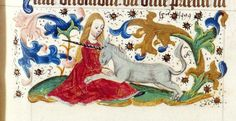 @JohanOosterman Virgin and a unicorn. Decorated and signed [!!!!!} border. See right above: 'Spierinck 1499'. LeidenUB BPL2747