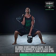 Mach 10 Workout: Horse Stance Gorilla Clean