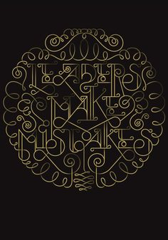 Typographic posters by Nicolas Baillargeon, via Behance