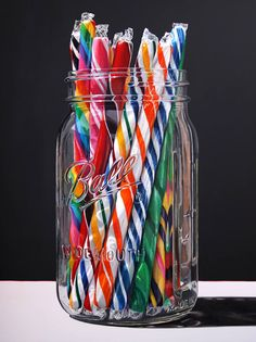 """Colorful Candy"" by Daryl Gortner; x at Skidmore Contemporary Art Candy Art, Stick Candy, Realistic Paintings, Amazing Paintings, Colorful Candy, Foto Art, Gcse Art, Photorealism, Art Lessons"