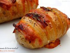 Recette Plat : Pommes de terre farcies en éventail par AmandineCooking