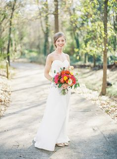 bright bouquet | Landon Jacob #wedding