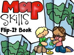 FREE- grade 2 to 4th - Interactive Notebooks are a fantastic way for students to learn new skills and maintain a record of learning. This Map Skills Flip-It Book could be used as individual pages as you introduce these topics or glued into notebook as a complete book.Includes 5 pages with skills for:continents and oceanscompass rosemap keyequatorSuggestions for use:      1.