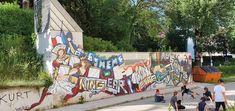 Klagenfurt-Theatergasse Klagenfurt, Murals, Travelling, Street Art, Fair Grounds, Fun, Wall Paintings, Mural Painting, Wall Murals