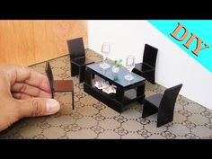 How To Make Realistic Miniature Coffee Table & Chair Sets -  Dollhouse - YouTube