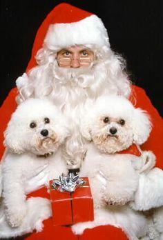 Amy and Mandy with Santa - HO! HO! HO!