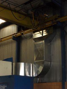 Ventilación para maquinaria industrial y naves.