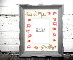 A personal favorite from my Etsy shop https://www.etsy.com/listing/227570153/kiss-the-miss-goodbye-gold-glitter-8-x