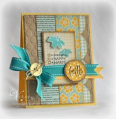by Amy Sheffer - Verve Stamps Inspiration Gallery Cool Cards, Diy Cards, Card Tags, Gift Tags, Beautiful Handmade Cards, Pretty Cards, Card Sketches, Copics, Paper Cards
