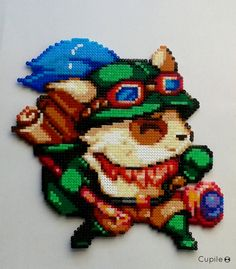 Teemo - League of Legends perler beads by Cupile